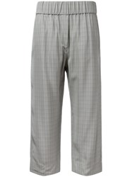 Alberto Biani Checked Cropped Trousers Grey