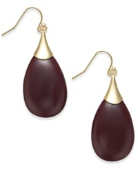 Inc International Concepts Gold Tone Teardrop Stone Earrings Only At Macy's Merlot