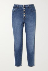 J Brand Heather High Rise Straight Leg Jeans Mid Denim