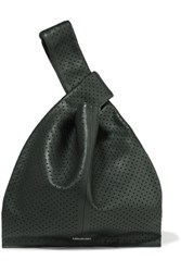 Mcq By Alexander Mcqueen Perforated Leather Tote Charcoal