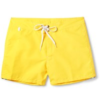 Sundek Rainbow Mid Length Swim Shorts Yellow
