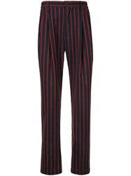 Loveless Striped Trousers Blue