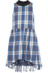 Sea Plaid Cotton Flannel Dress