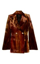 Ellery Boycott Velvet Jacket Brown