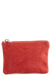 Baggu Women's Leather Zip Pouch Red