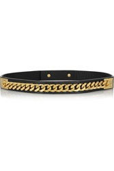 Sophie Hulme Leather And Gold Plated Chain Belt