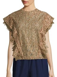 A Detacher Esther Patterned Blouse Sienna