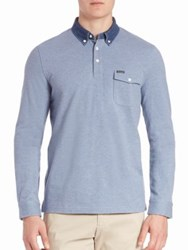 Faconnable Club Fit Polo Shirt Violet Blue