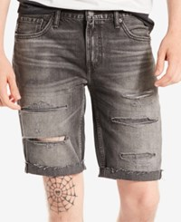 Levi's Men's 511 Slim Fit Cutoff Ripped Jean Shorts Death And Taxes
