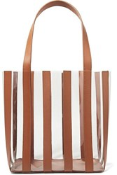 Loeffler Randall Marlena Pvc And Leather Tote Tan