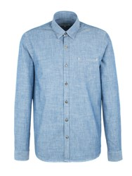 Gibson Men's Denim Style Long Sleeved Shirt Denim