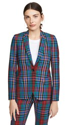 Paul Smith Plaid Jacket Red