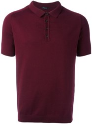 Roberto Collina Knitted Polo Shirt Red