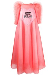 Viktor And Rolf Get Mean Embroidered Tulle Gown Pink