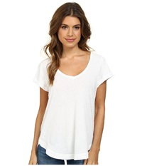 Splendid Vintage Whisper V Neck Tee Paper Women's T Shirt White