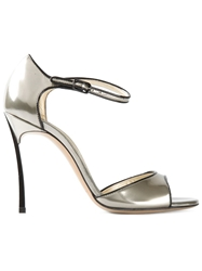 Casadei Contrasting Trim Pumps Metallic