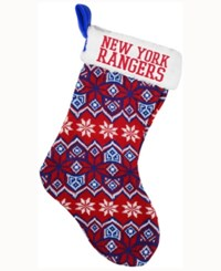 Forever Collectibles New York Rangers Holiday Sweater Knit Team Stocking