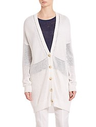 Vince Marled Cardigan Optic White