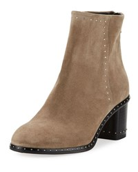 Rag And Bone Willow Studded Leather Ankle Boot Gray