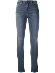 Blk Dnm Super Skinny Cropped Jeans Women Cotton Polyester Spandex Elastane 27 Grey