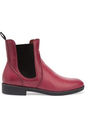 Marc By Marc Jacobs Leather Ankle Boots Purple