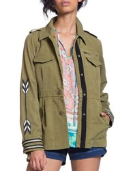 Plenty By Tracy Reese Cotton Blend Utility Jacket Army Green