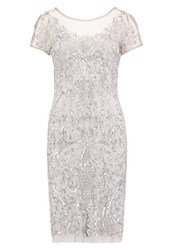Adrianna Papell Cocktail Dress Party Dress Ice Silver