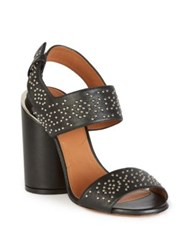 Givenchy Carpet Pattern Studded Leather Sandals Black