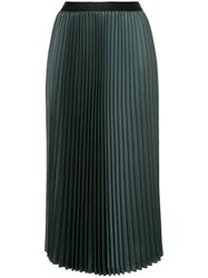 08Sircus Midi Pleated Skirt Green
