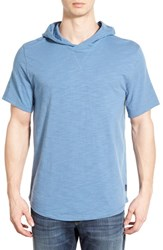 Men's Threads For Thought 'The Moody' Short Sleeve Organic Cotton Hoodie Moroccan Blue