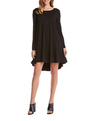 Karen Kane Solid Boatneck Trapeze Dress Black