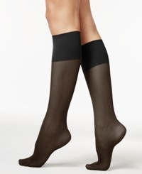 Berkshire Women's Plus Size Sheer Graduated Compression Trouser Socks Black