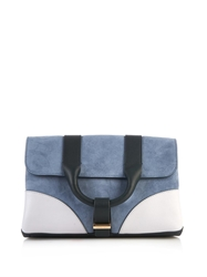 Jason Wu Hanne Colour Block Suede Clutch
