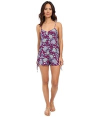Billabong Keep Dreamin Romper Deep Plum Women's Jumpsuit And Rompers One Piece Purple