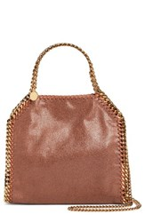 Stella Mccartney 'Mini Falabella Shaggy Deer' Faux Leather Tote Brown Maple