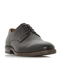 Howick Barbery Textured Gibson Lace Up Shoes Black