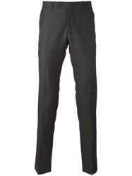Pt01 Patterned Tapered Trousers Grey
