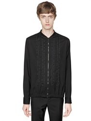 Lanvin Ruffled Stretch Crepe Bomber Jacket