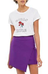 Topshop Women's Asymmetrical Miniskirt Purple