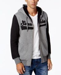 Sean John Banner Jacket With Contrast Sleeves Medium Grey