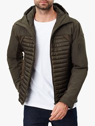 Joules Hooded Wentworth Mix Quilted Jacket Heritage Green