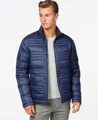 Ryan Seacrest Distinction Reversible Down Bubble Jacket Navy
