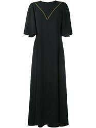 Ellery Contrast Stitch Mid Length Dress Black