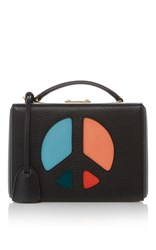 Mark Cross Grace Small Peace Sign Box Black