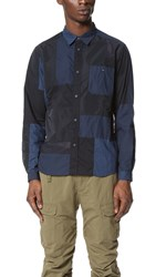 White Mountaineering Franken Shirt Navy