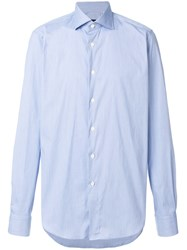 Dell'oglio Classic Long Sleeve Shirt Blue