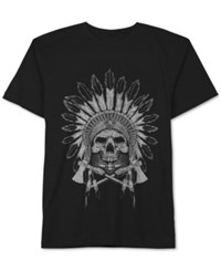 Jem Men's Thunderbird Skull T Shirt Black
