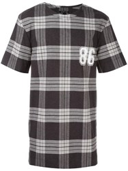Helmut Lang Plaid T Shirt Grey