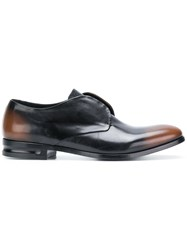 Alexander Mcqueen Faded Laceless Brogues Brown