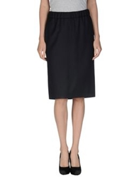 Mauro Grifoni Knee Length Skirts Dark Blue